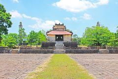 Hue Imperial Tomb of Emperor Thieu Tri, Hue Vietnam UNESCO World Heritage Site. The imperial tomb of Thieu Tri is located very close to the Imperial Tomb of Tu Royalty Free Stock Photos