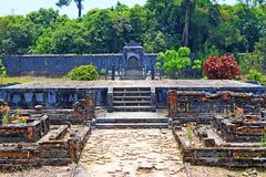 Hue Imperial Tomb of Emperor Thieu Tri, Hue Vietnam UNESCO World Heritage Site. The imperial tomb of Thieu Tri is located very close to the Imperial Tomb of Tu Royalty Free Stock Image