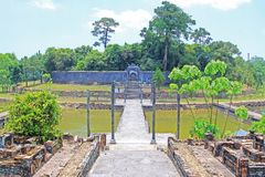 Hue Imperial Tomb of Emperor Thieu Tri, Hue Vietnam UNESCO World Heritage Site Stock Photos