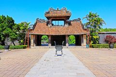 Hue Imperial Tomb of Tu Duc, Vietnam UNESCO World Heritage Site. The imperial tomb of Tu Duc is considered to be the most beautiful Imperial tomb of every Hue Stock Photography