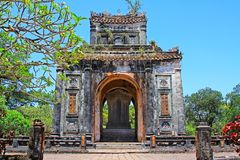 Hue Imperial Tomb of Tu Duc, Vietnam UNESCO World Heritage Site. The imperial tomb of Tu Duc is considered to be the most beautiful Imperial tomb of every Hue Royalty Free Stock Images