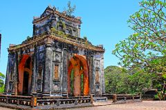 Hue Imperial Tomb of Tu Duc, Vietnam UNESCO World Heritage Site. The imperial tomb of Tu Duc is considered to be the most beautiful Imperial tomb of every Hue Royalty Free Stock Image