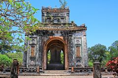 Hue Imperial Tomb of Tu Duc, Vietnam UNESCO World Heritage Site. The imperial tomb of Tu Duc is considered to be the most beautiful Imperial tomb of every Hue Royalty Free Stock Photo