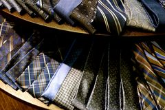 Hue Neck Ties azul Fotografia de Stock