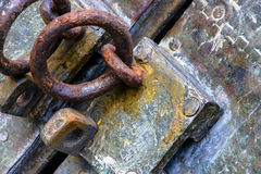 Hue Pagoda lock. This a closeup of a Pagoda lock in the ancient capitol of Vietnam Hue stock image
