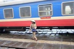 Hue Railway Station en Vietname Imágenes de archivo libres de regalías