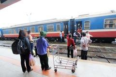 Hue Railway Station i Vietnam Royaltyfri Bild