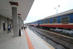 Hue Railway Station i Vietnam Royaltyfri Fotografi