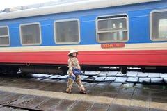 Hue Railway Station i Vietnam Arkivbilder