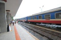 Hue Railway Station i Vietname Arkivbild