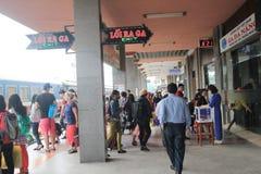 Hue Railway Station i Vietname Arkivfoto
