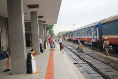 Hue Railway Station i Vietname Royaltyfri Fotografi