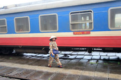 Hue Railway Station in Vietnam Stock Images