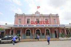 Hue Railway Station. View of Hue Railway Station. Hue Railway Station is a railway station in the city of Hue, Vietnam on the main North–South Railway Royalty Free Stock Photo
