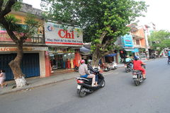 Hue street view in Vietnam Stock Images
