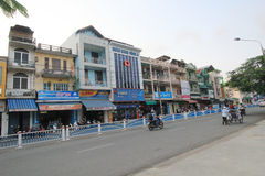 Hue street view in Vietnam. Street view in Hue, Vietnam. Hue is city of Vietnam. The city is located in central Vietnam on the banks of the Perfume River, just a royalty free stock photos