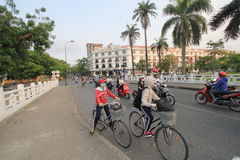 Hue street view in Vietnam Royalty Free Stock Photo