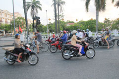 Hue street view in Vietnam Royalty Free Stock Photography