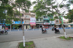 Hue street view in Vietnam. Street view in Hue, Vietnam. Hue is city of Vietnam. The city is located in central Vietnam on the banks of the Perfume River, just a stock photos