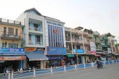 Hue street view in Vietnam Royalty Free Stock Image