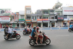 Hue street view in Vietnam. Street view in Hue, Vietnam. Hue is city of Vietnam. The city is located in central Vietnam on the banks of the Perfume River, just a stock image