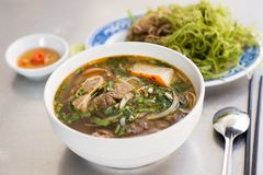 Hue Style Beef Noodle Soup Stock Photography