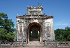 Hue tomb - Vietnam. Temple structure near the emperor's tombs near Hue, Vietnam stock image