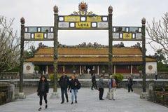 Gateway to Thai Hoa Palace Royalty Free Stock Photos