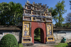 Hue, Vietnam. Inside the citadel. Imperial Forbidden City. Hue, Vietnam Royalty Free Stock Photos