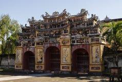 Hue, Vietnam. Inside the citadel. Imperial Forbidden City. Hue, Vietnam Royalty Free Stock Image