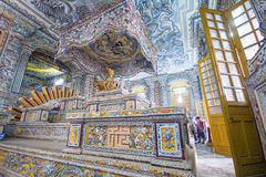 Hue, Vietnam Mar 14:: inside of Tomb of Kinh Dinh on March 14, 2 Royalty Free Stock Photo