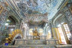 Hue, Vietnam Mar 14:: inside of Tomb of Kinh Dinh on March 14, 2 Royalty Free Stock Photos