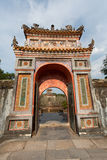 HUE, VIETNAM - MARCH 27, 2015: Structures of Hue Citadel Complex.Complex of Hue Monuments lies along the Perfume River in Hue City royalty free stock photo