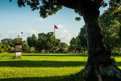 Hue, Vietnam - November 11, 2015: View over a lawn in Imperial Palace Royalty Free Stock Photos