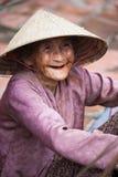 Vietnamese woman says hello Stock Image