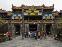 Hue - Vietnam Tourist in Hue Citadel stock image