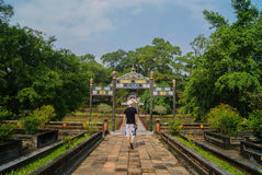 Hue Vietnam, a walk in the park. A walk in the Imperial Citadel Stock Image