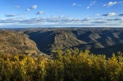 Huebra. Valley, Alto Douro International Park, Saucelle, Spain Stock Photos