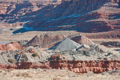 Hueco abierto de la mina del desierto Imagen de archivo libre de regalías