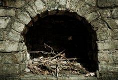 Hueco de piedra del fuego Imagenes de archivo