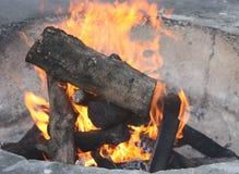 Hueco del fuego Fotografía de archivo