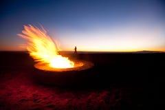 Hueco del fuego de la playa Imagenes de archivo