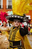 Huehues Mexico, mexican Carnival scene, dancer wearing a traditional mexican folk costume and mask rich in color stock photos