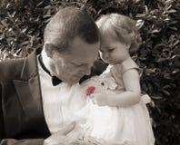 Huela las rosas Fotos de archivo