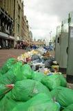 Huelga de la basura Imagen de archivo libre de regalías