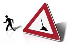Huelga de la señal de tráfico Imagen de archivo libre de regalías