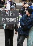 Huelga de las pensiones de Sheffield Fotos de archivo
