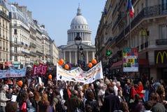 Huelga de las universidades en París Foto de archivo libre de regalías