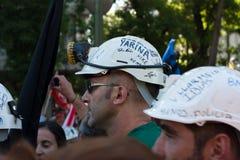 Huelga de los mineros Fotos de archivo libres de regalías