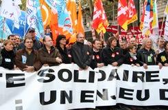 Huelga del retiro en París Fotografía de archivo